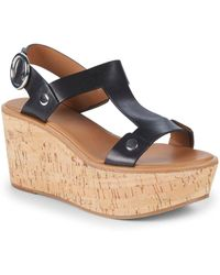 Frye - Dahlia Rivet Leather Wedge Sandals - Lyst