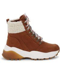 Kensie Crown Faux Fur-lined Boots - Brown
