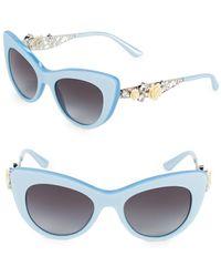 Dolce & Gabbana - 52mm Embellished Cat Eye Sunglasses - Lyst