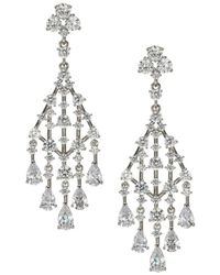Adriana Orsini Women's Evie Rhinestone Chandelier Earrings - Metallic
