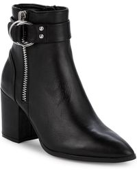 Steven by Steve Madden - Jeter Leather Ankle Boots - Lyst