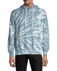Trunks Surf & Swim Men's Terry Tie-dye Hoodie - Twilight - Size S - Blue