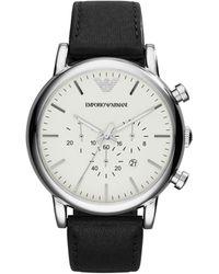 Emporio Armani Luigi Stainless Steel & Leather-strap Chronograph Watch - Multicolor