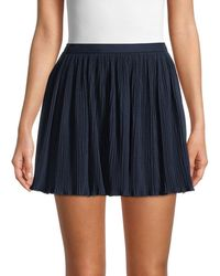 RED Valentino Women's Pleated Mini Skirt - Blue - Size 40 (8)