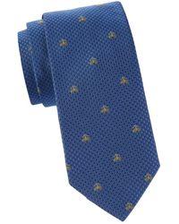 Brooks Brothers Men's Logo Silk Tie - Blue