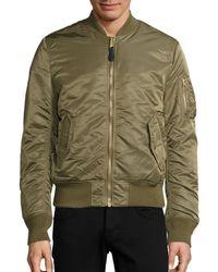 Alpha Industries Nylon Flight Jacket - Green