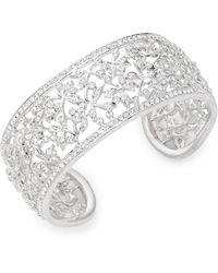 Adriana Orsini Crystal Floral Cuff Bracelet - Multicolor