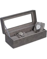 Bey-berk Four Watch Storage Case - Grey