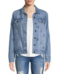 Saks Fifth Avenue - Indiana Star Denim Jacket - Lyst