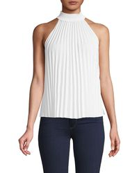 A.L.C. Imani High-neck Pleated Top - White