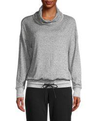 Marc New York Hachi Melange Cowl-neck Pullover - Grey