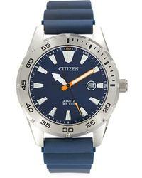 Citizen Men's Stainless Steel Japanese Quartz Movement Watch - Blue