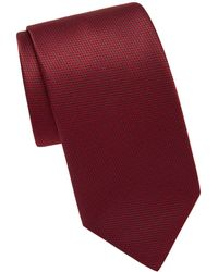 Brioni Houndstooth Silk Tie - Purple