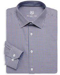 Bugatchi - Long Sleeve Woven Cotton Check Shirts - Lyst