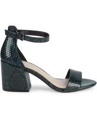 Kenneth Cole Hattie Snake-print Block Heel Court Shoes - Green