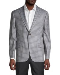 Hickey Freeman Men's Regular-fit Milburn Ii Wool Sportcoat - Grey - Size 40 R