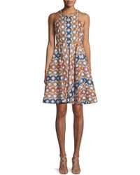 Alaïa Printed Cotton A-line Dress - Multicolor