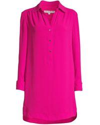 Trina Turk Women's Welwood Shirtdress - Le Vin Rouge - Size Xs - Pink