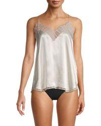 IRO Women's Berwyn Silk Lace-trim Cami Top - Anthracite - Size Xs - White