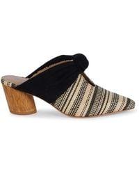 Bernardo Women's Finley Patterned Knotted Mules - Black - Size 6.5