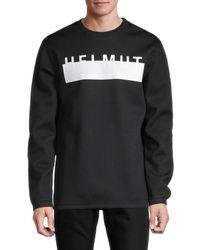 Helmut Lang Men's Oversized Logo Sweatshirt - Olive - Size Xs - Green