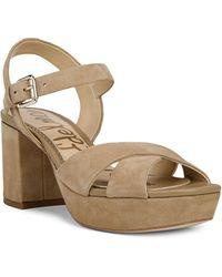 Sam Edelman Jolene Suede Platform Sandals - Multicolour