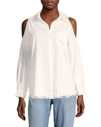 Saks Fifth Avenue - Cold-shoulder Shirt - Lyst