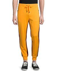 Dolce & Gabbana Men's Side Stripe Sweatpants - Yellow - Size 48 (32)
