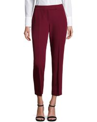 MILLY - Cropped Wide-leg Pants - Lyst