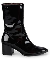 Etienne Aigner Tyler Patent Leather Booties - Black