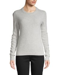 Saks Fifth Avenue Crewneck Cashmere Sweater - Gray