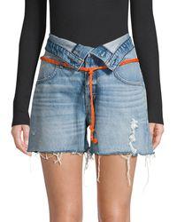 Hudson Jeans Sloane Relaxed Denim Shorts - Blue