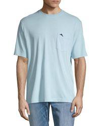 Tommy Bahama Men's Logo Cotton Pocket Tee - Summer Night - Size S - Blue