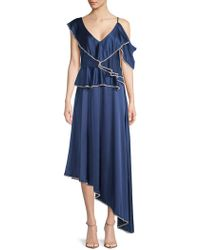 Haute Rogue - Lora Embellished Asymmetrical Dress - Lyst