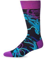 Bugatchi - Multicolored Striped Socks - Lyst