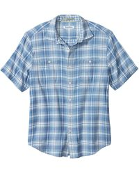 Tommy Bahama Desert Duo Plaid Button-front Shirt - Blue