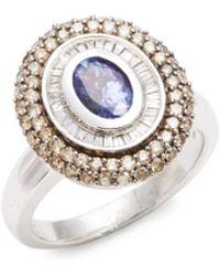 Effy - Diamond & 14k White Gold Ring - Lyst