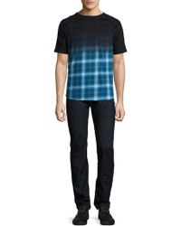 Madison Supply - Ombre Plaid Elongated Tee - Lyst