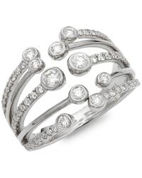 Effy 14k White Gold & Diamond Ring - Metallic
