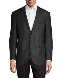 Corneliani Classic-fit Wool & Silk Donegal Tweed Suit Jacket - Grey