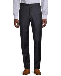 Armani - Men's Solid Virgin Wool Trousers - Solid Dark - Size 56 (40) - Lyst