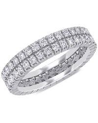 Saks Fifth Avenue Women's 14k White Gold & Diamond Double-row Eternity Ring - Size 8
