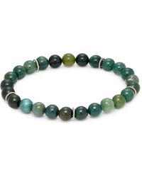 Saks Fifth Avenue Sterling Silver & Agate Bead Bracelet - Multicolour