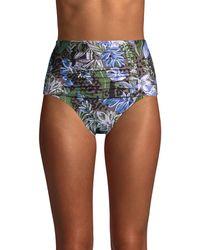 Calvin Klein Botanical & Cheetah-print Halter Bikini Top - Multicolor