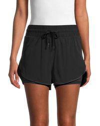 Electric Yoga Women's Ellie Double Up Tennis Shorts - Black - Size Xl