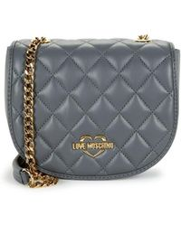 Love Moschino - Quilted Logo Patch Saddle Bag - Lyst