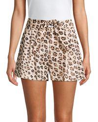 Joie Carden Leopard Linen Tie-front Shorts - Multicolour