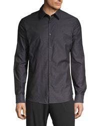 Calvin Klein Dot-print Shirt - Black