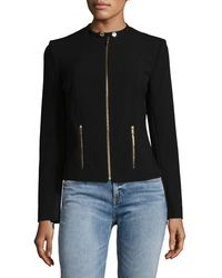 Calvin Klein Collarless Zip Jacket - Black