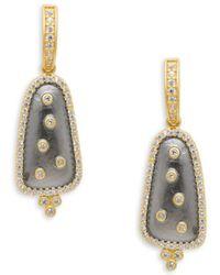 Freida Rothman - Scattered Crystal Drop Earrings - Lyst